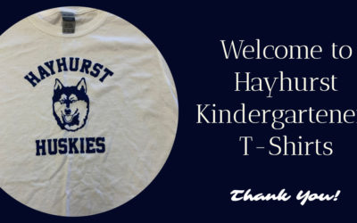 Kindergarteners' Welcome to Hayhurst T-Shirts – Thank You Clark Chen and Shirts & Skins, Inc.